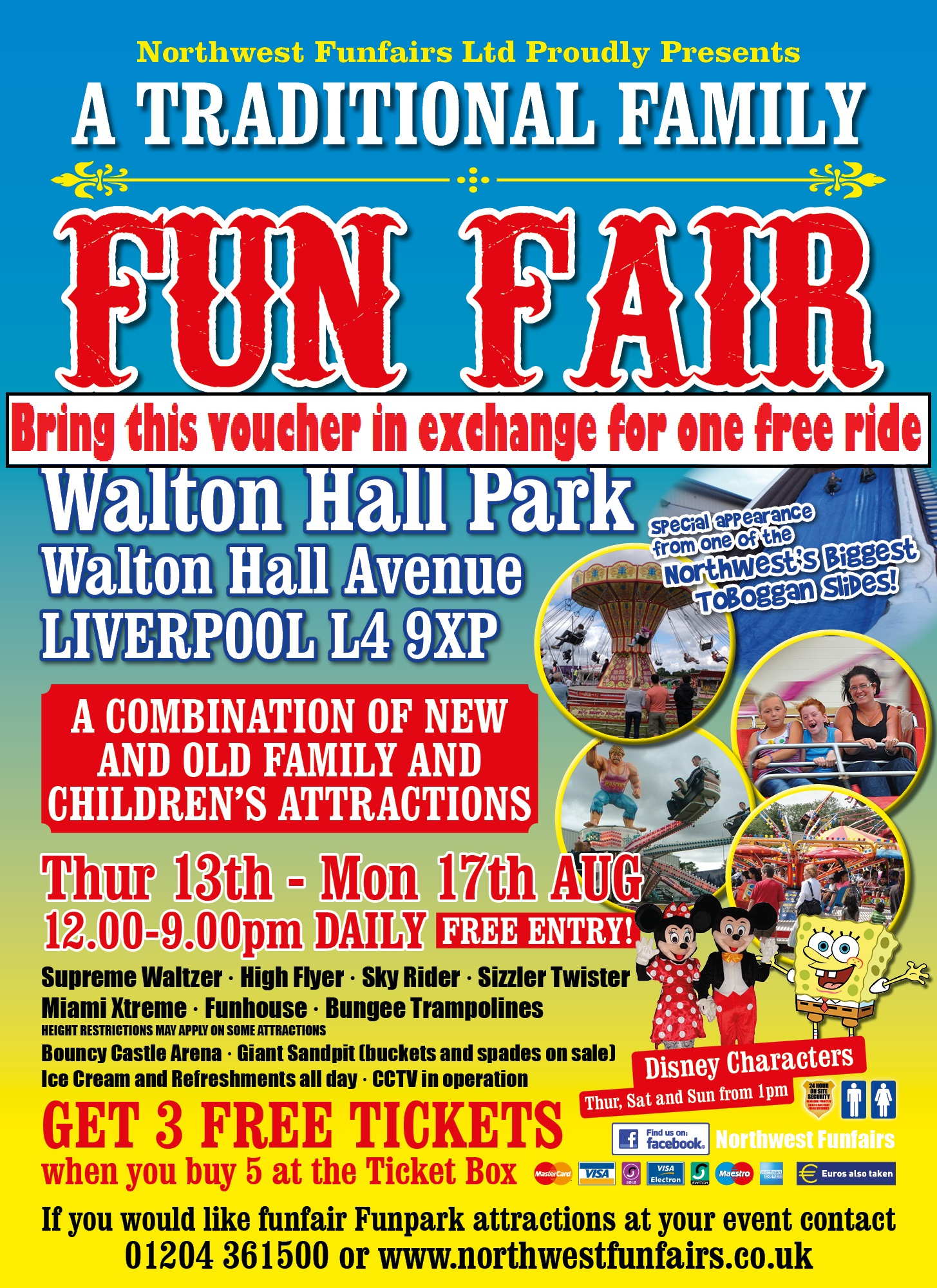 walton hall park traditional family funfair   north west