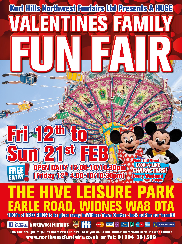 Widnes Valentines Fair The Hive Leisure Park North West